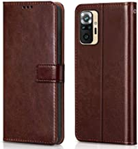 WOW Imagine Shock Proof Flip Case Back Cover for Xiaomi Redmi Note 10 Flexible Leather Finish Card Pockets Wallet Stand Chestnut Brown