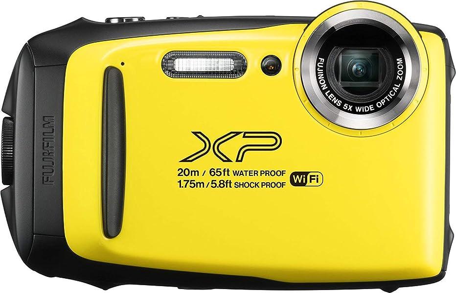 Fujifilm FinePix XP130 Waterproof Digital Camera w/16GB SD Card - Yellow, Plus LIQUID DEALS Cloth