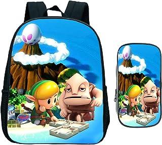 Bolsa para la escuela 13 pulgadas The Legend of Zelda Mochila Estuche lápices Link's Awakening Mochilas escolares estudiantes niñas Niños Mochila diaria niños