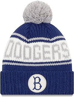 1f6cfea68577a New Era Brooklyn Dodgers MLB 9Twenty Cooperstown Retro Patch Cuffed Knit Hat