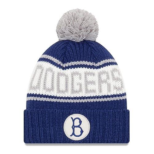 52c6ce70922 New Era Brooklyn Dodgers MLB 9Twenty Cooperstown Retro Patch Cuffed Knit Hat