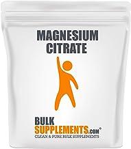 Sponsored Ad - BulkSupplements.com Magnesium Citrate (1 Kilogram - 2.2 lbs - 300 Servings)