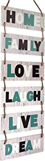 Excello Global Products Large Hanging Wall Sign: Rustic Wooden Decor (Family, Home, Love,..
