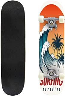 Classic Concave Skateboard United States map Vintage Vector Illustration California Vintage Longboard Maple Deck Extreme Sports and Outdoors Double Kick Trick for Beginners and Professionals