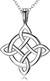 YFN Celtic knot Earrings Necklace Bracelet Sterling Silver Polished Good Luck Jewelry for Women Teen Girls