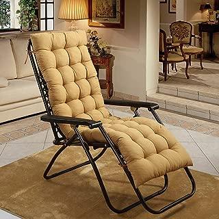 Non Slip Rocking Chair Cushions, Winter with Ties Wicker Seat Cushion Bench Cushion, Window Cushion Tatami Floor Mat Indoor Outdoor-Yellow 48x160cm(19x63inch)