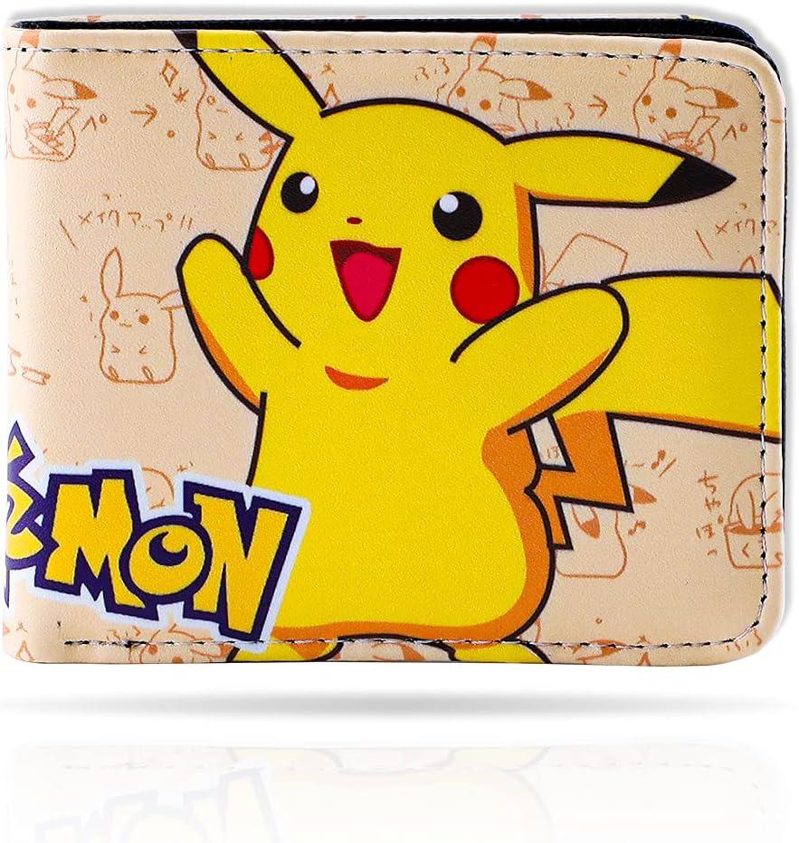 Anime Pikachu Bifold Leather Wallet Purse Credit Card Holder (WC Pikachu 1)