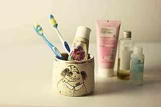 Custom Toothbrush Holder with Dog/Bathroom Decor/Cute Pottery Bathroom Cup/Dog Toothbrush