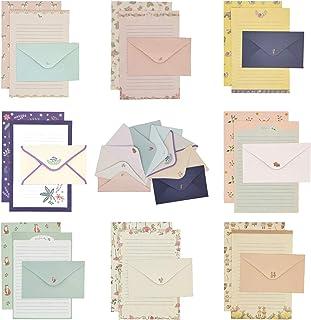 کاغذ لوازم التحریر ELTNEGSA ، لوازم التحریر کاغذ نوشتن 72PCS (48 کاغذ لوازم التحریر 24 پاکت) 8 سبک متفاوت