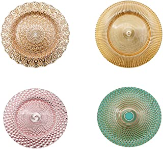 13-Inch 4-Pack Round Charger Plates Wedding Party Decroation Charger Plates