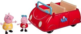 Jazwares 92605 - Peppa Wutz Peppa's rode auto, Cabrio met melodie en geluid, speelgoedauto met exclusieve peppa en mama wu...