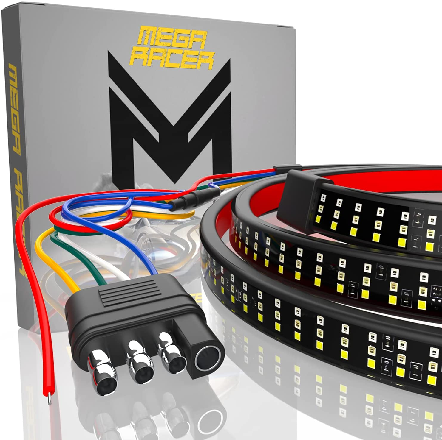 "Mega Racer 60"" Triple Row LED Tailgate Light Bar"