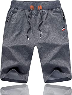 Tansozer Mens Gym Shorts Summer Sports Shorts Zip Pockets