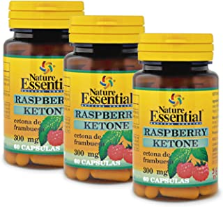 Ketonas de frambuesa 300 mg. 60 cápsulas (Pack 3 unid.)…