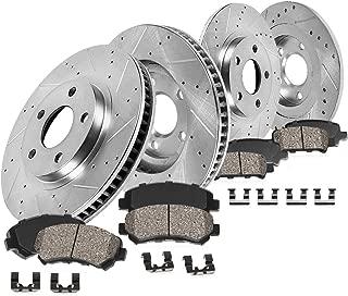 Callahan CDS03674 FRONT 280mm + REAR 295mm D/S 5 Lug [4] Rotors + Brake Pads + HDW + Sensors [for Volvo 850 C70 S70 V70]
