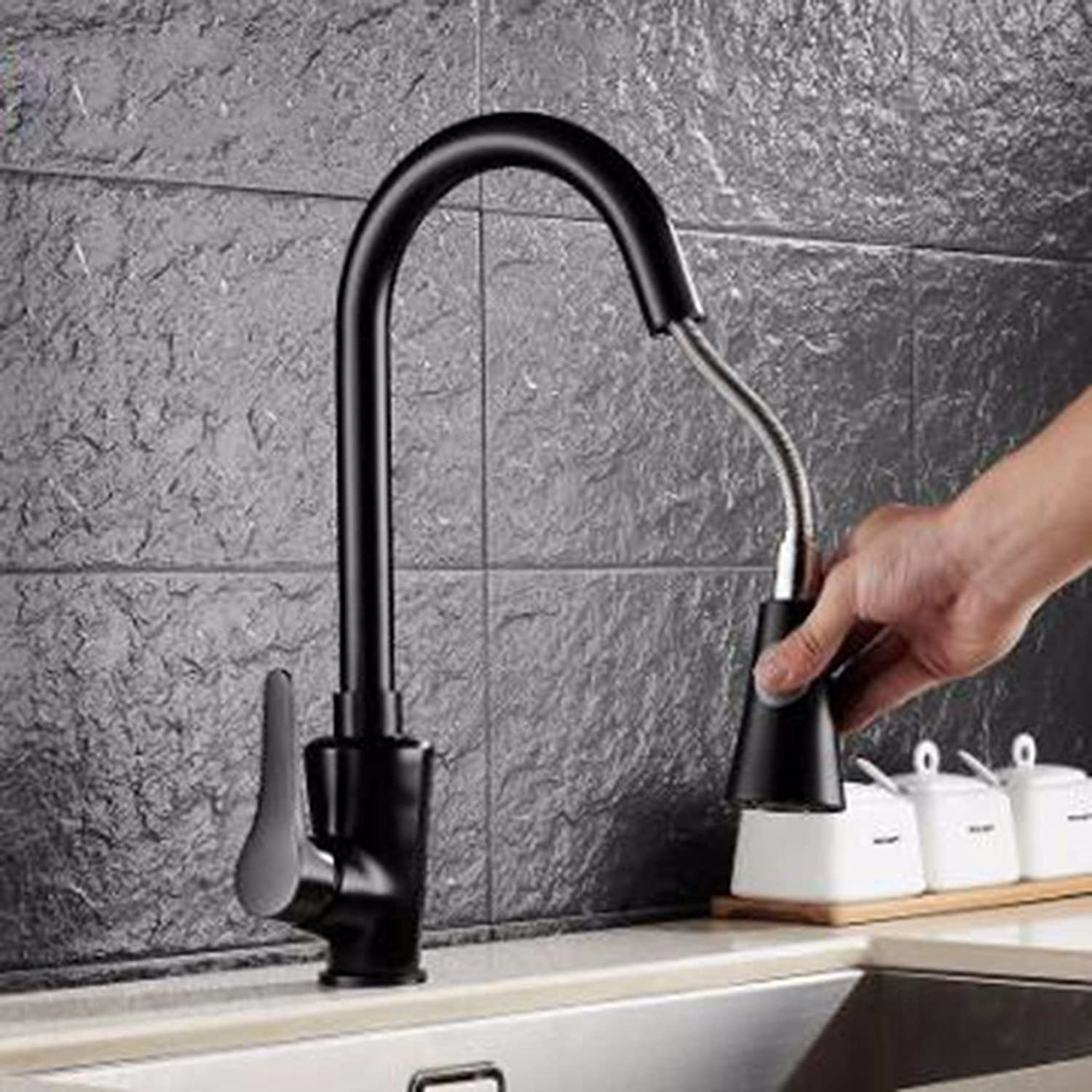JFBZS-kitchen sink taps European Pull-Out Kitchen Faucet Dish Hot Water Faucet 360 Turn