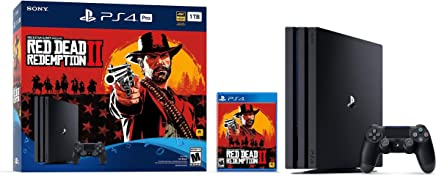 Sony PlayStation 4 Pro Consola con Redención de Muertes Rojas de 2019, paquete de 2, personaliza tu propio almacenamiento especial PS4 hasta 1TB/2TB/HDD/SSD