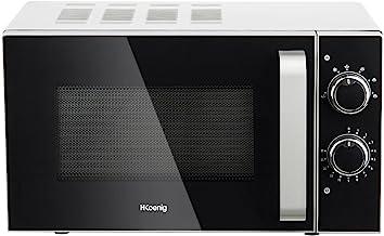 H.Koenig VIO4 Microondas/20 L /Plato giratorio 24,5 cm/6 etapas de cocción/700 W/Temporizador