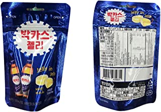 Bacchus Drink Flavor Jelly Candy Caffeine Free 박카스젤리 - 1.7oz (Pack of 3)