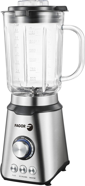 FAGOR Batidora de vaso COOLMIX Pro. 1200W de potencia y 1.75L de capacidad. 3 programas y regulador de velocidad
