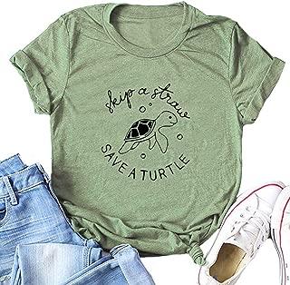 Women Skip A Straw Save A Turtle T-Shirt