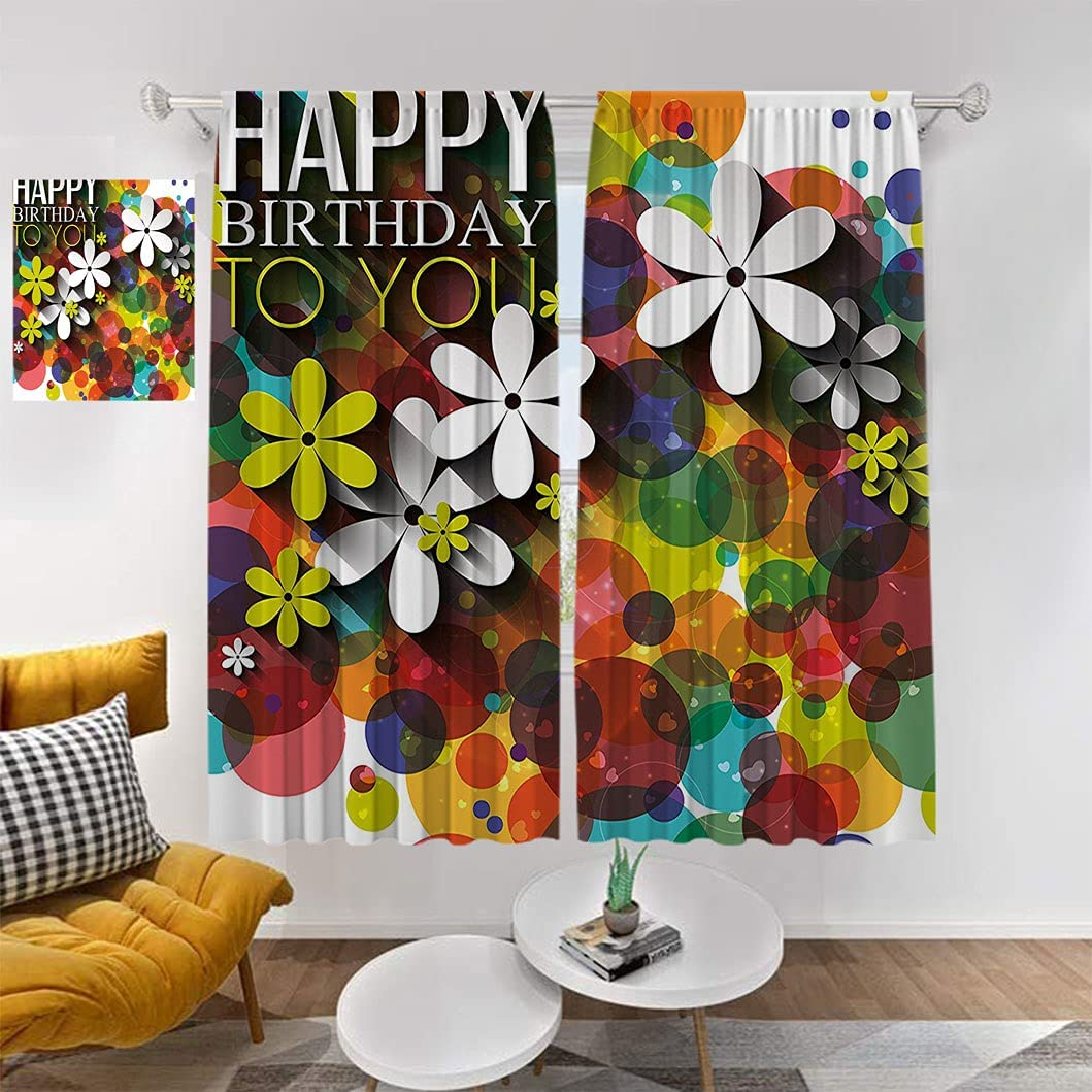 Beauty products Birthday Decor Room Darkening Curtains D Composition Flowers of Long Beach Mall