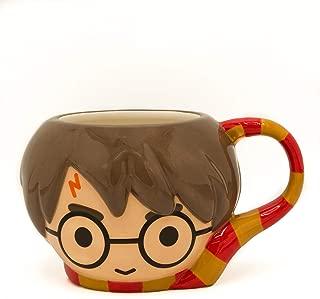 HARRY POTTER Chibi Sculpted Ceramic Mug, 25 Ounce, Multicolored
