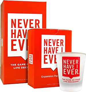 Never Have I Ever Combo Pack 3: Original Game, Expansion Pack One, and Custom Shot Glass - NSFW