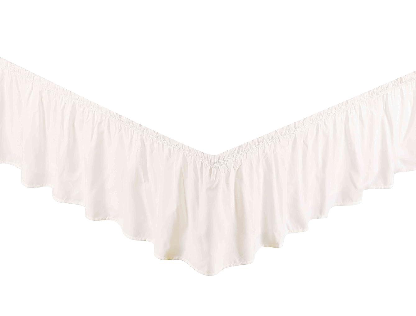 置くためにパック貧困(Queen/King, White) - Super Soft Solid Brushed Microfiber 36cm Elastic Bed Skirt/Dust Ruffle - by Sheets & Beyond (Queen/King, White)