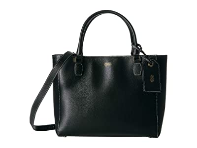 Frances Valentine Olivia Double Handle Tote (Black) Handbags
