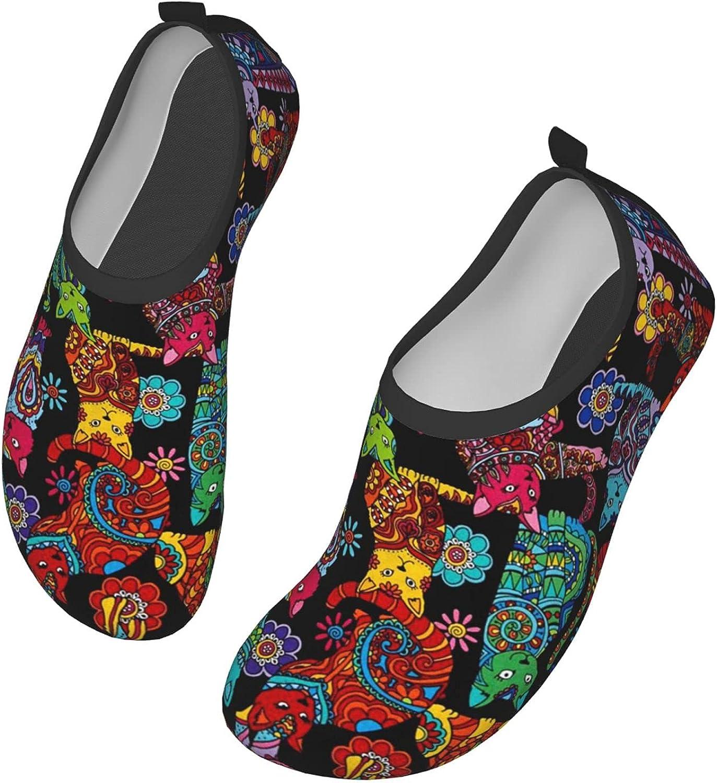 Water Shoes Women's Men's Color Me Cat Coloring Barefoot Quick-D