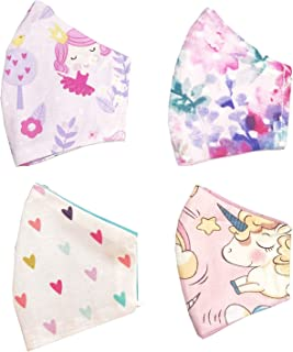 Cloth Mask Cover for Kids, Re-usable and Washable, Lightweight and Adjustable, Pack of 4