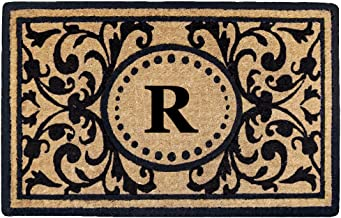 """Heavy Duty 18"""" x 30"""" Coco Mat Heritage, Monogrammed R"""