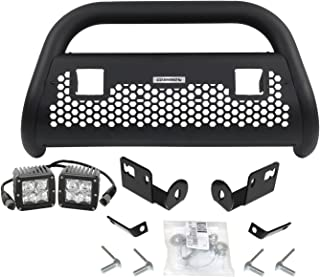 Go Rhino 5554211T Textured Black RC2 LR Complete Kit Front Guard + Brackets + Lights