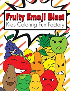 Fruity Emoji Blast: 38 Fruit Emojis in a Coloring Book for Toddlers and Kids 1+: 4