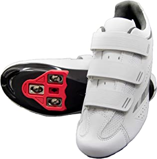 Pista 100 Women's Spin Class Ready Cycling Shoe Bundle with Compatible Cleat, Look Delta, SPD - Black, Blue, Pink, White