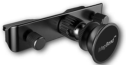 HIGH-END Black CD Slot Mount Magnetic Cradle-less Smartphone Car Mount Holder, iMagBond CNC Anodized Aluminum, Not Plastic!