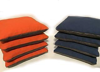 Set of 8 Dual Side Slick & Stick Cornhole Bags Orange & Blue - Bossette Boutique