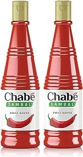 Chabé Sambal Chili, Chabe Hot Sauce, Vegan Sweet Chili, 10.9 Fl Oz (Pack of 2)