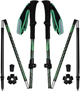 REDCAMP Aluminium Walking Sticks Collapsible,2 Pack 1 Year Warranty,Ultralight Quick Flip Lock Trekking Poles for Hiking