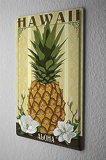 [ZUNYI]ブリキ イラスト Food Restaurant Hawaii pineapple ブリキ 看板 アイデアデコレーション [20x30cm]