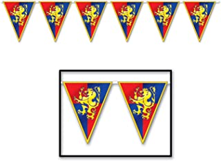 Beistle Party Supplies, Medieval Pennant Banner, Red/Blue/Yellow