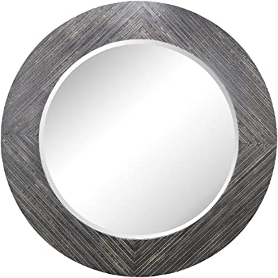 ELK Blackwall Wood Framed Wall Black Ash Mirror