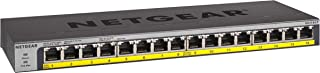 NETGEAR 16-Port Gigabit Ethernet Unmanaged PoE Switch (GS116LP) - with 16 x PoE+ @ 76W Upgradeable, Desktop/Rackmount, and ProSAFE Limited Lifetime Protection