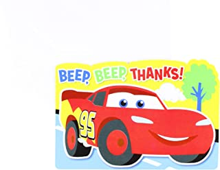 "Amscan Zooming Disney Cars 1st Birthday Party Postcard Thank You Cards, Multi, Paper, 4 x 6 Pack of 8 Childrens, Multicolor, 4 1/4"" X 6 1/4"""