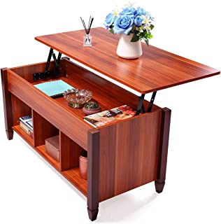 JAXPETY Lift Top Coffee Table with Hidden Compartment &...
