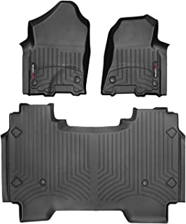 WeatherTech Custom Fit FloorLiner for Dodge Ram Truck 1500-1st & 2nd Row (Black)