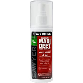 Sawyer Products DEET Premium 100% Insect Repellent Spray Pump