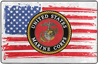 USMC Marine Corps Area Rugs Chair Floor Mat for Carpet Home Office 60