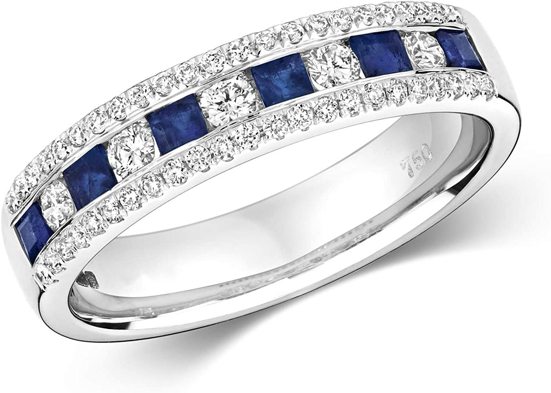 Stunning 18k price White Gold Women Half Eternity Ring 4 years warranty Diamond Brillia